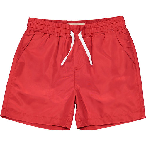 Me and Henry Red Swim Shorts