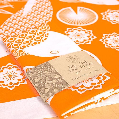 Koi Fish Tea Towel