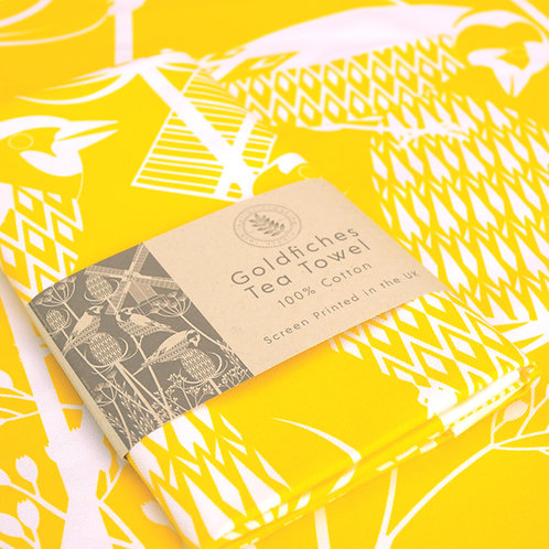 Goldfinche Tea Towel