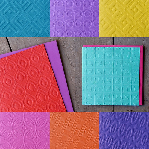 Duplex Retro Patterned Cards