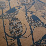 goldfinch letterpress print