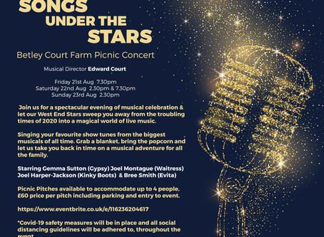 Songs under the Stars- at Betley Court Farm