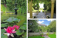 Beautiful gardens at Trehalvin Holiday Cottages