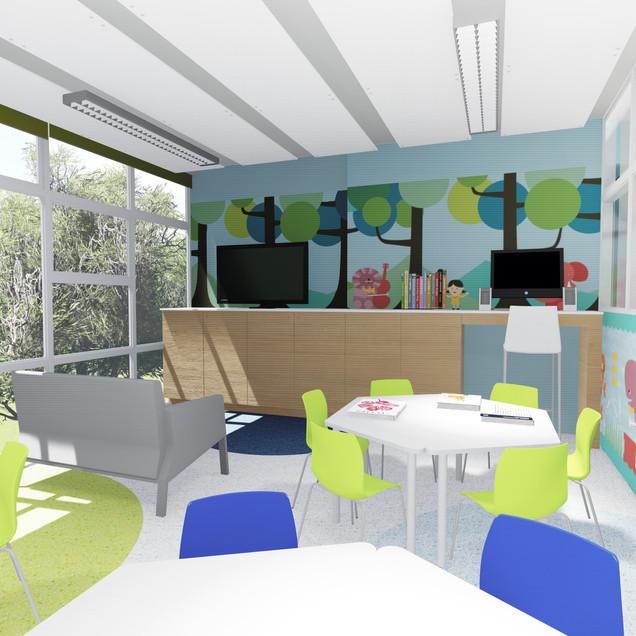 Remodelación Unidad Oncología, Hospital Nacional de Niños