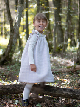 Robe d'hiver blanche pour fille