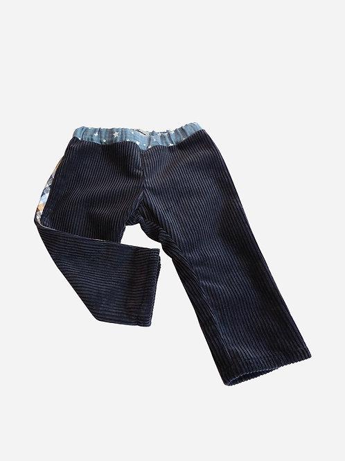 Pantalon Charles - Velours côtelé bleu nuit