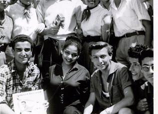 Gilbert Bécaud à Sfax, Tunisie, en 1954