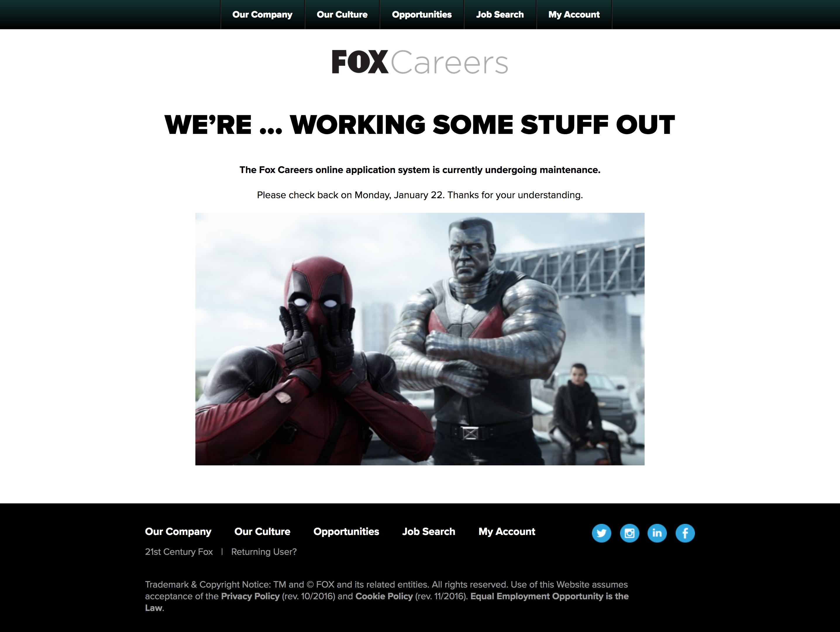Fox Careers Website