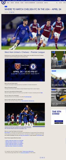 Chelsea FC – USA Fan Content