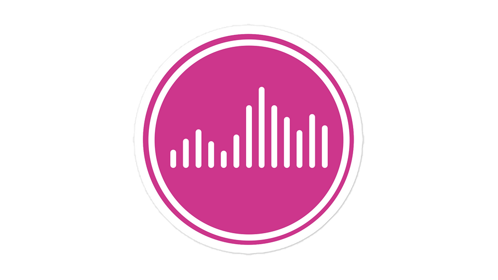 Vibe Sticker Pink blockcolor