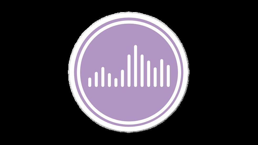 Vibe Sticker Lilac blockcolor