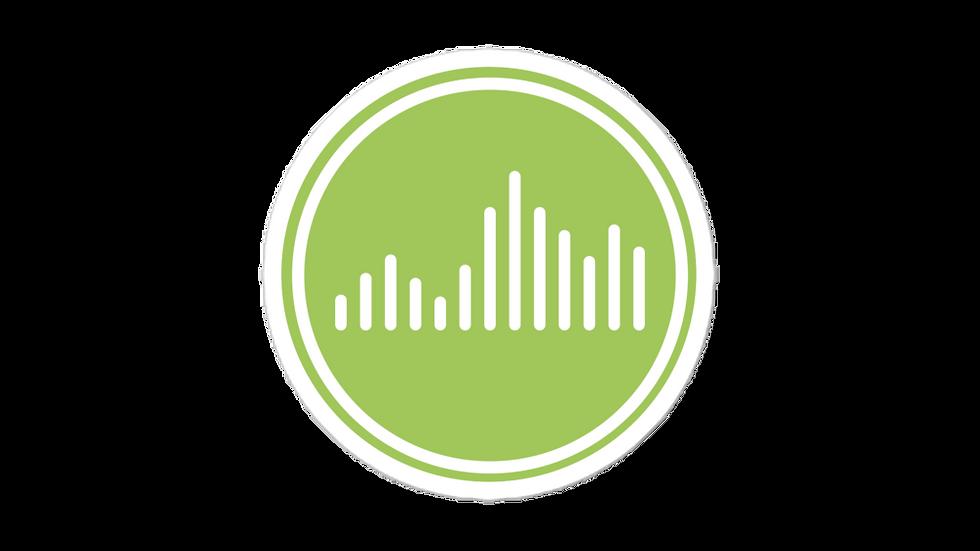 Vibe Sticker Green blockcolor