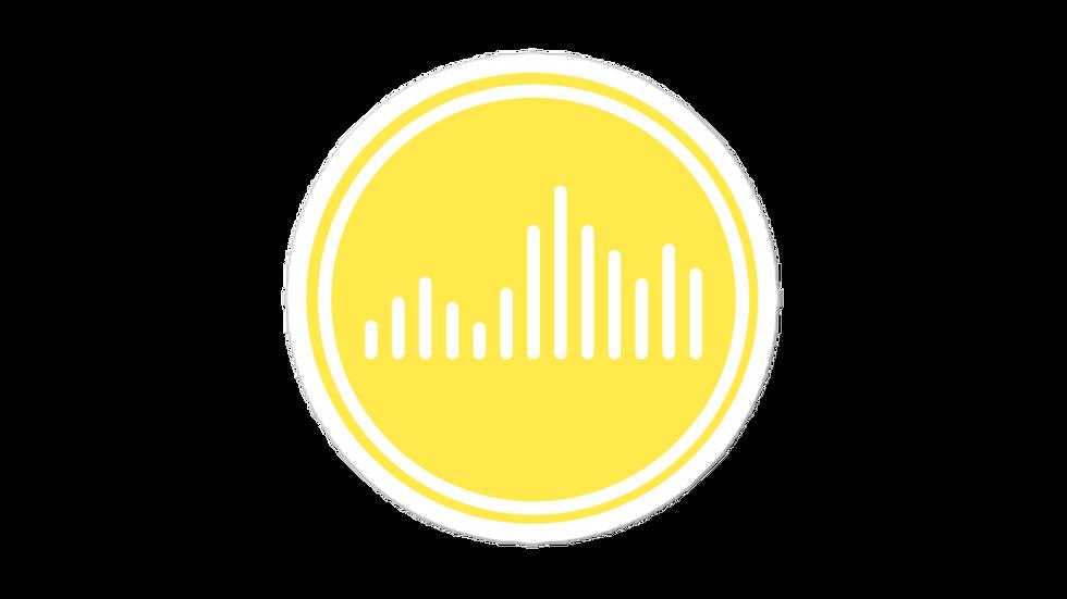 Vibe Sticker Yellow blockcolor