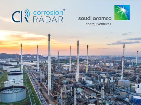 Saudi Aramco Energy Ventures invests in CorrosionRADAR® predictive corrosion monitoring technology