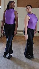 Aileen & Aiyana, Tap Class.jpg