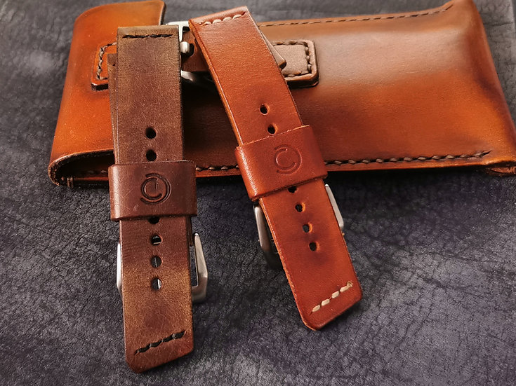 Handmade Leather 22mm Entry  Strap