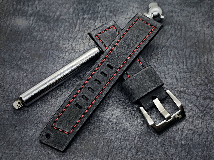 Handmade leather 22mm 'One-Off' Collection Aevum strap