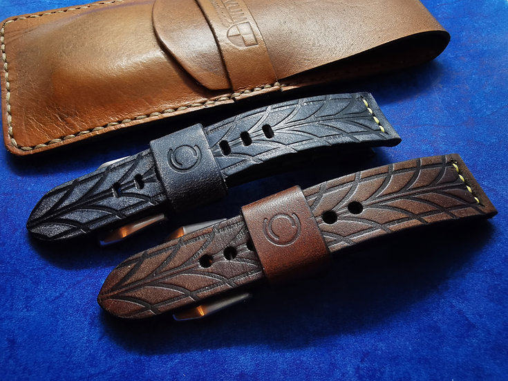 Handmade Leather 22mm Tread Strap