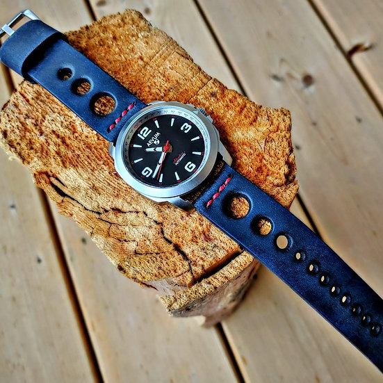 Handmade Leather 22mm Racing Spirit Strap