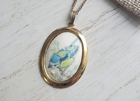 Painted Bird Necklace