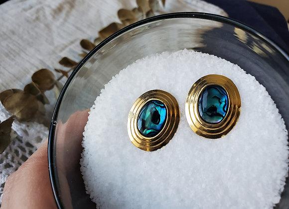 Abalone & Gold Earrings