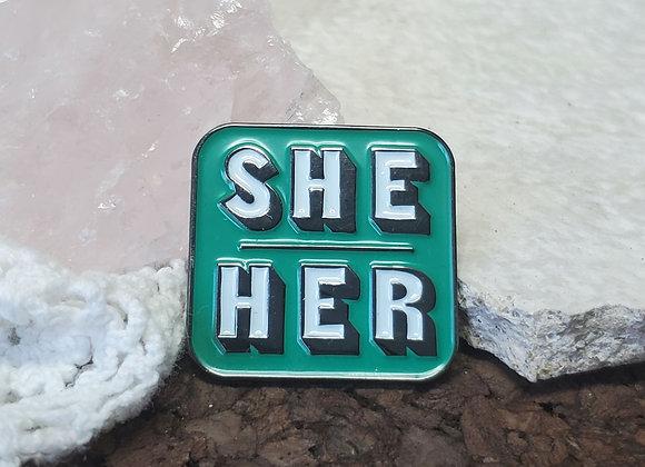 Pronoun Pin ~ She/Her