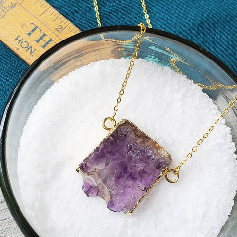 Electroplated Amethyst Slice