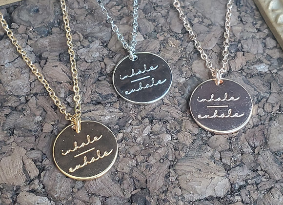 inhale / exhale Necklace