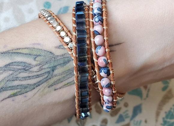 Victoria Emerson Wrap Bracelet ~ Blue