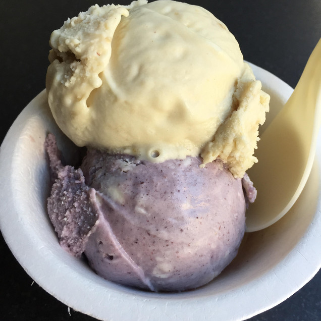 Cashew-base ice cream is oh-so good