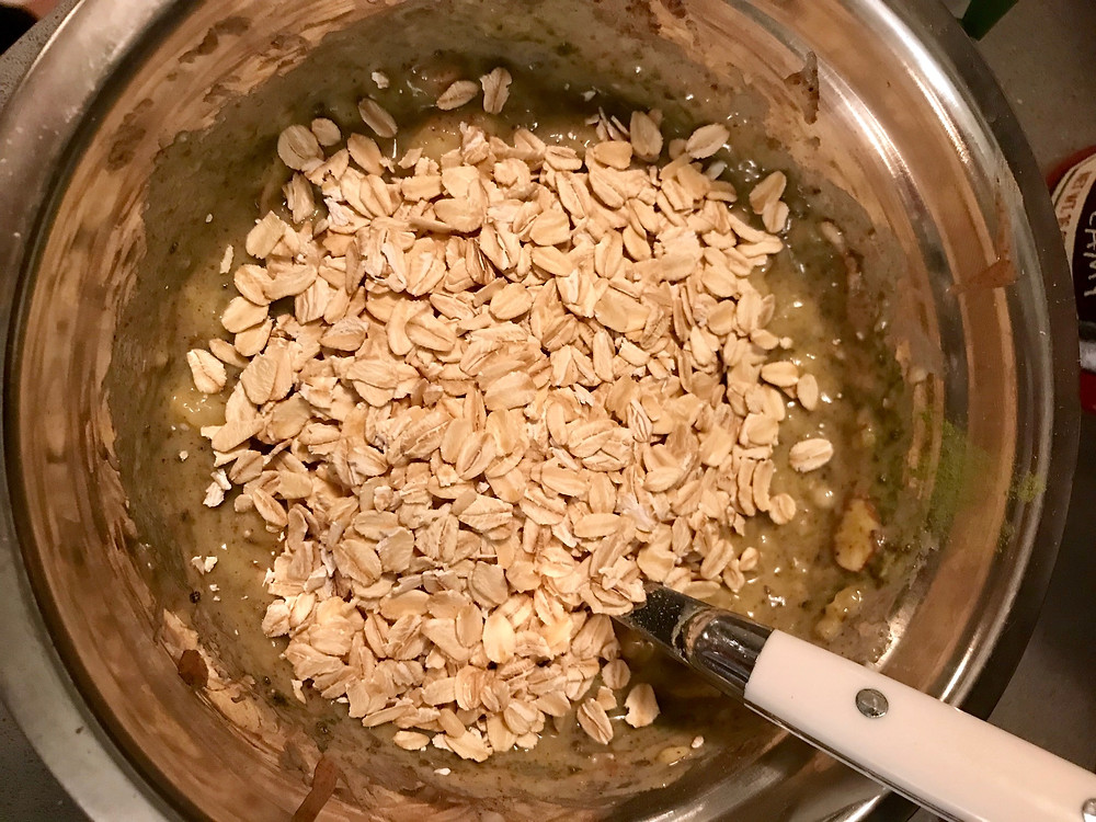 mix in the oats