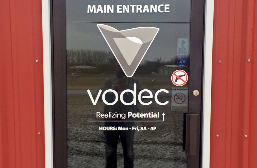 Vodec Exterior Door Graphics