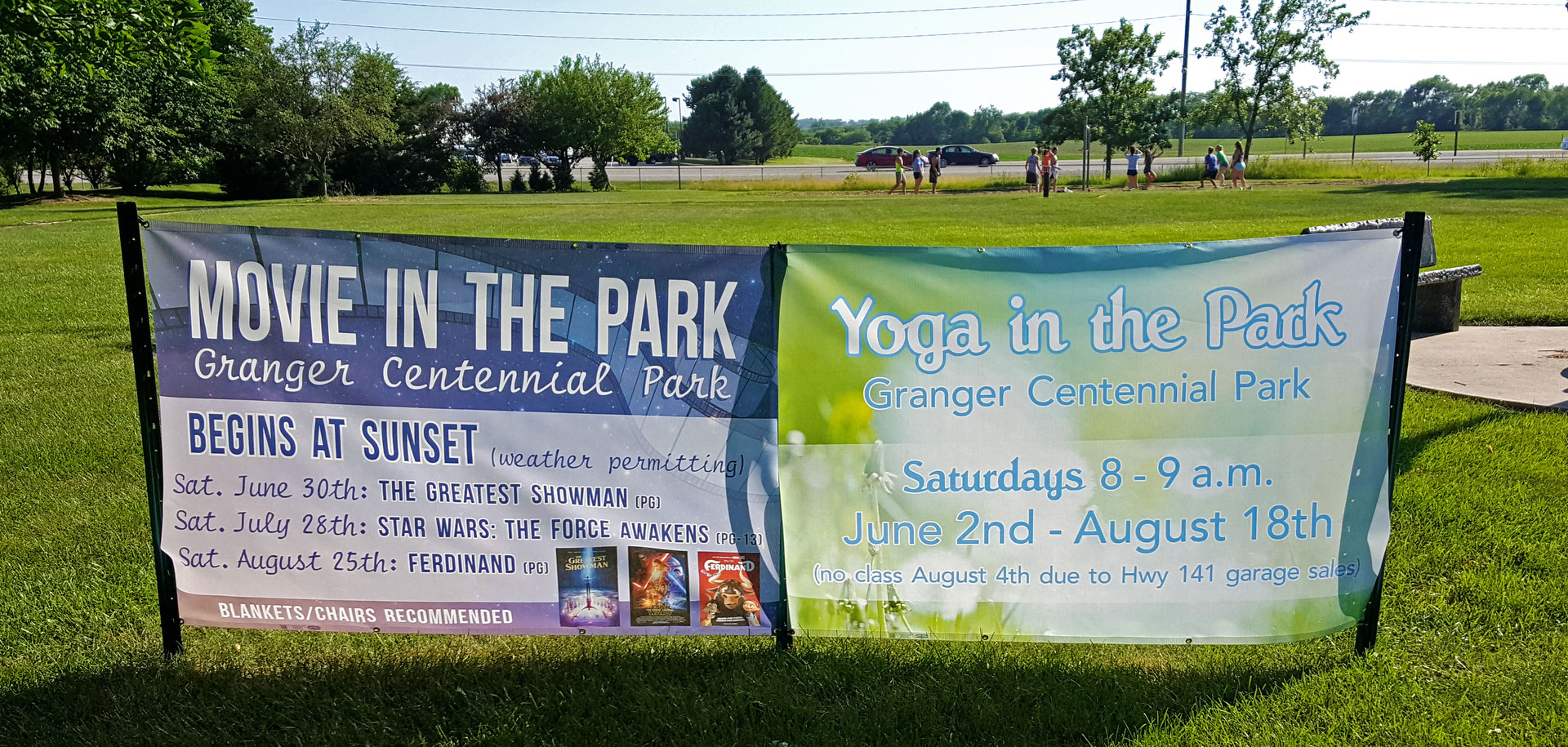 Movie in the Park Mesh Banner Design & P