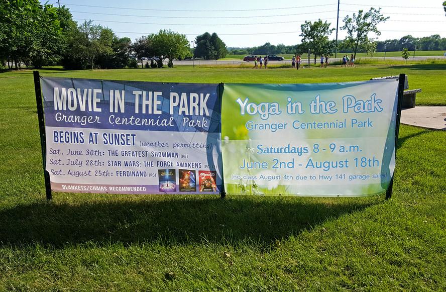 Movie in the Park Mesh Banner Design & P