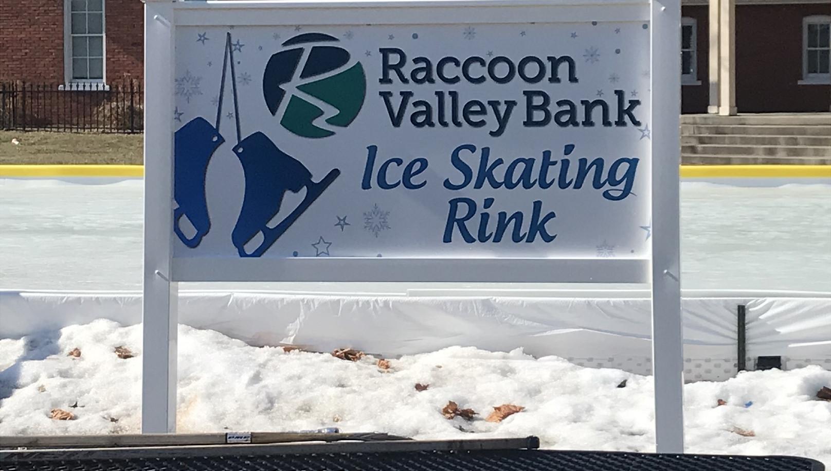 RVB Ice Skating Rink Framed Exterior Sig