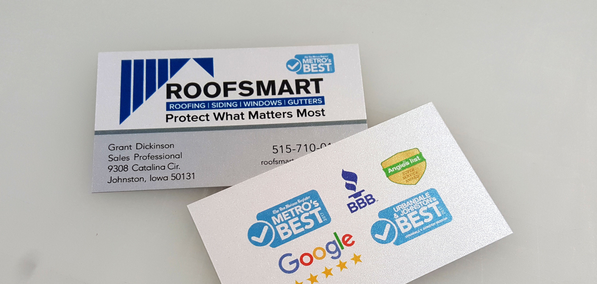 RoofSmart Business Card Design & Print