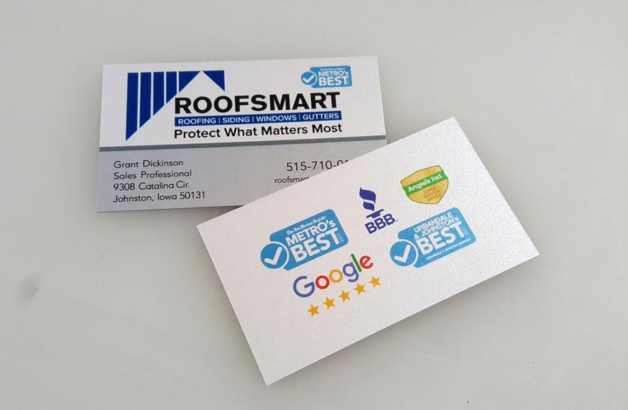 RoofSmart Business Card Design & Print