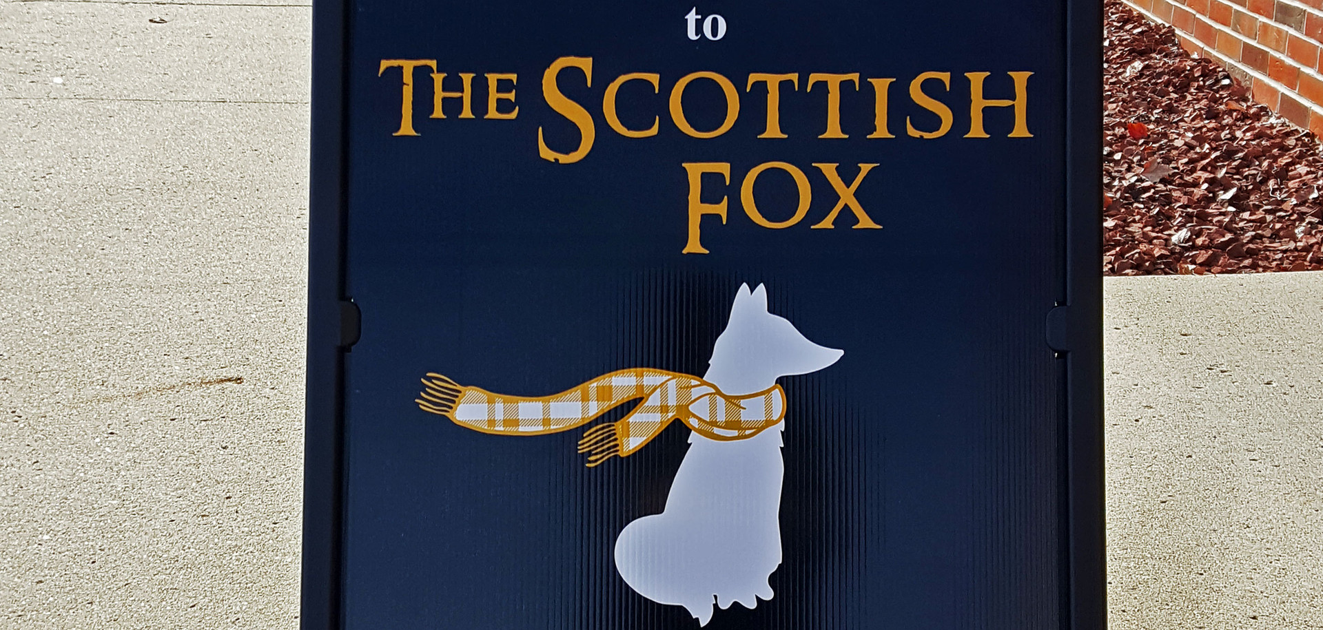 The Scottish Fox Logo Design & Print