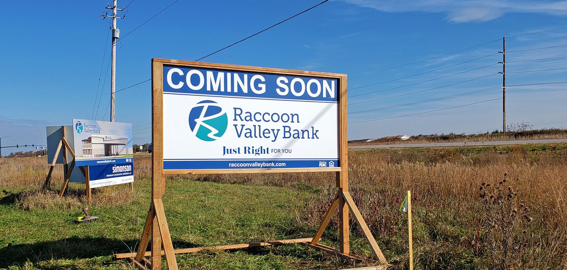 RVB Site Sign on Skid