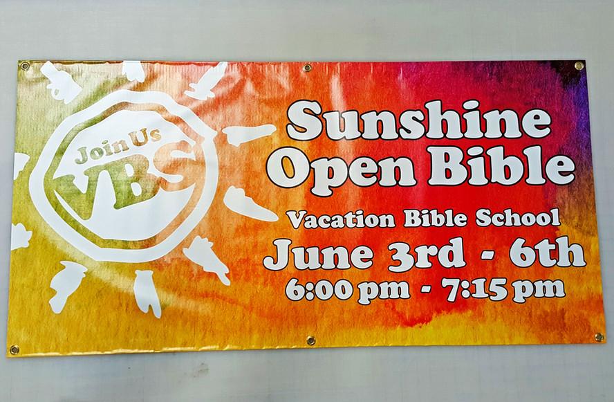 VBS Banner Design & Print