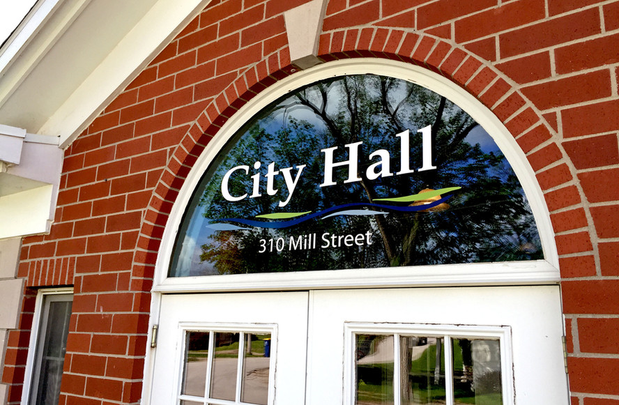 City Hall Exterior Window Graphics