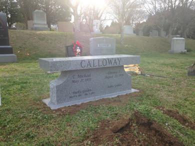 Calloway Cremation Bench