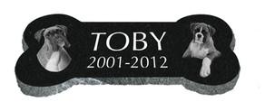Toby Pet Bone Black