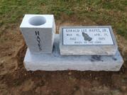 Hayes Slant Marker w/ Base and Vase