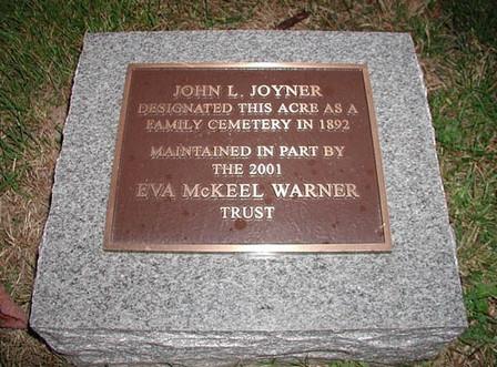 Joyner Bronze Plaque