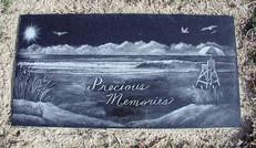 Etched Black Granite Marker