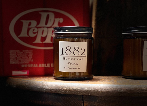 1882 Homestead Hand Poured Soy Candle - Refreshing