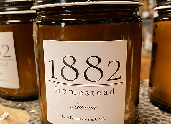 1882 Homestead Hand Poured Soy Candle: Autumn