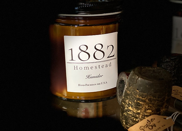 1882 Homestead Hand Poured Soy Candle- Humidor