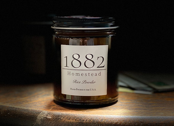 1882 Homestead Hand Poured Soy Candle - Rice Powder